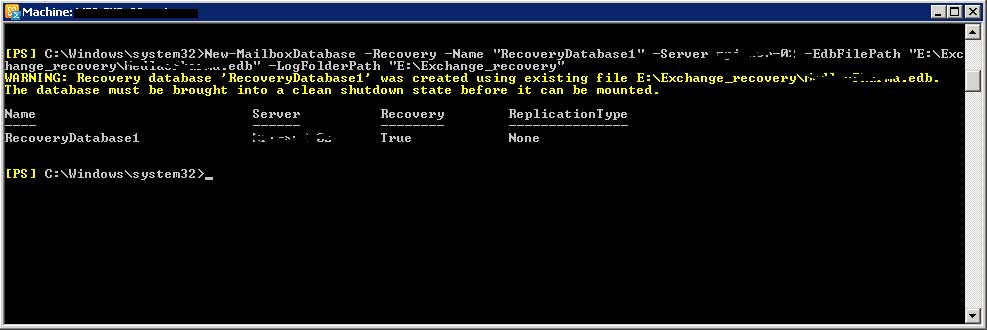 Exchange 2010 Recovery